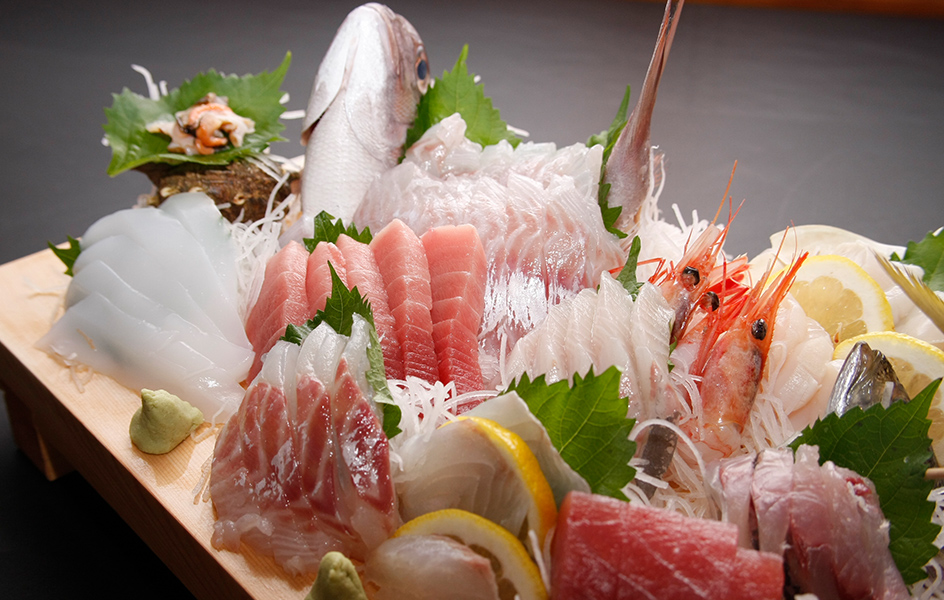 Fresh seafoods and Japanese foods